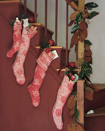 Decoration with Stocking on Christmas