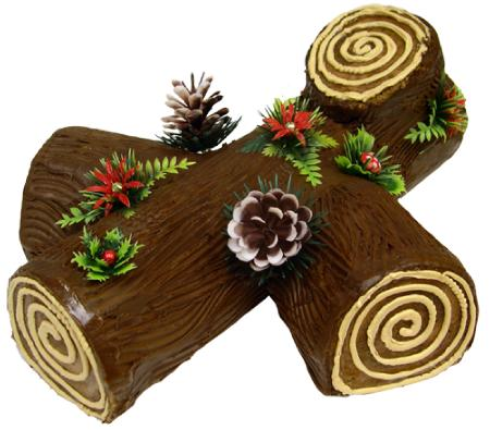 Yule Log for Christmas Dessert