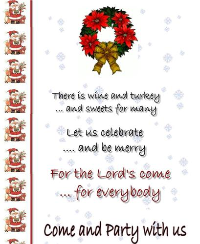 Christmas Part Idea - Invites
