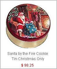 Santa by the fire Cookies