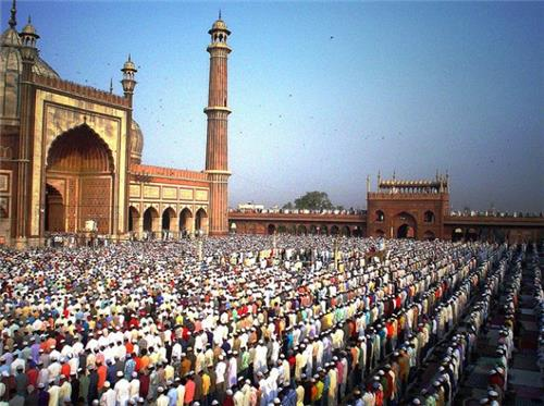 Muslim Prayers at Jama Masjid