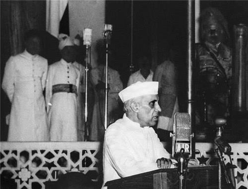 Jawaharlal Nehru Delivering Tryst with Destiny Speech