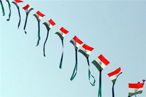Kite Flying on Independence Day