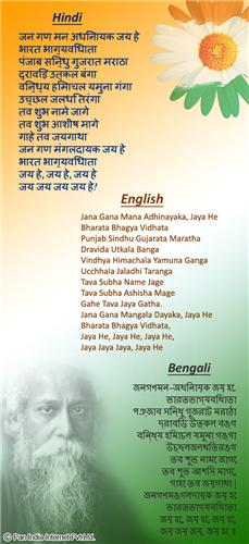 National Anthem of India Lyrics in Hindi, English, and Bengali