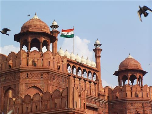 Flag Hoisting at Red Fort