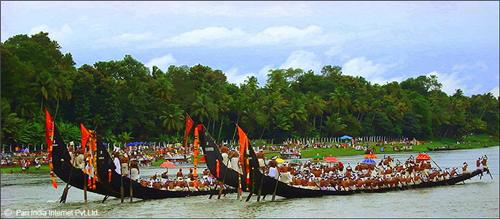 Boat Race Festivals Celebration at Champakulam Kerala