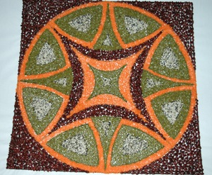 Diwali Rangoli with Cereals and Grains