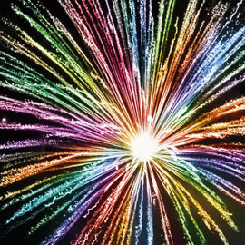 Rainbow Fancy Firework for Diwali