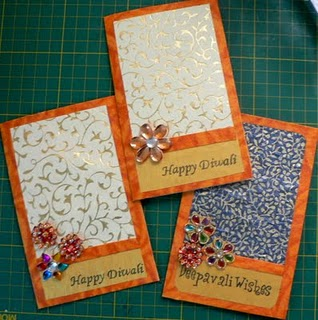 Handmade Diwali Greeting Cards