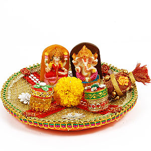 Pooja Thali for Diwali