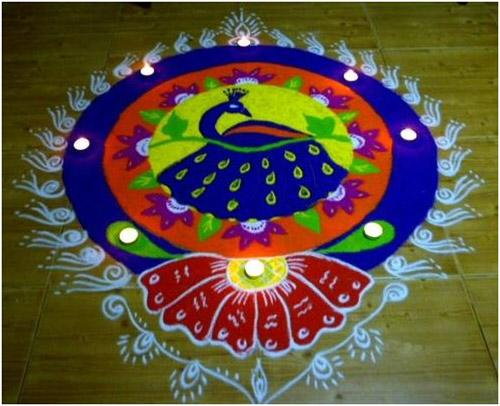 Nature related Rangoli Design