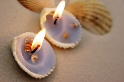Diwali Sea Shell Candles