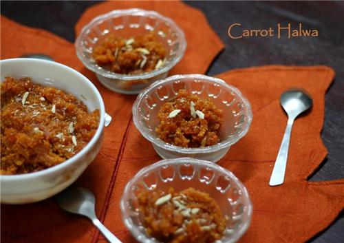 Carrot Halwa for Diwali