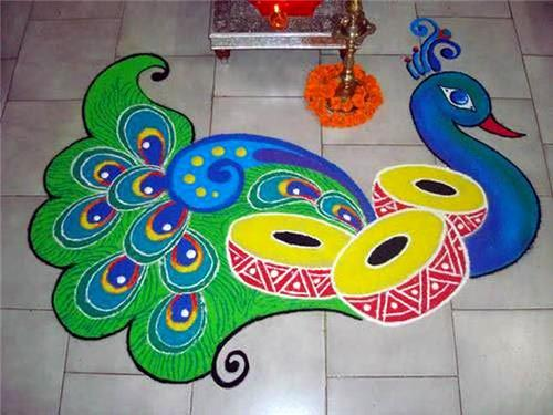 Rangoli on Diwali