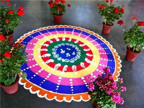 Rangoli on Diwali