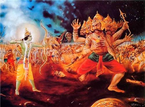 Victory of Rama over Ravana