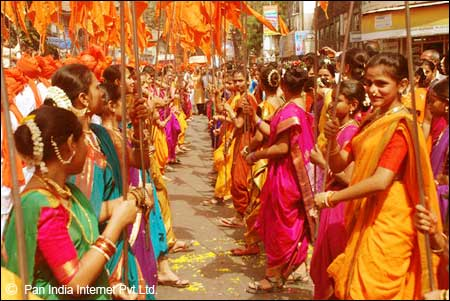 Maharashtrian Ladies celebrating Gudi Padwa