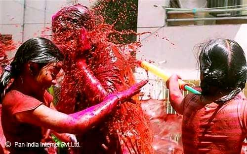 Kids drenched in the colour of Joy