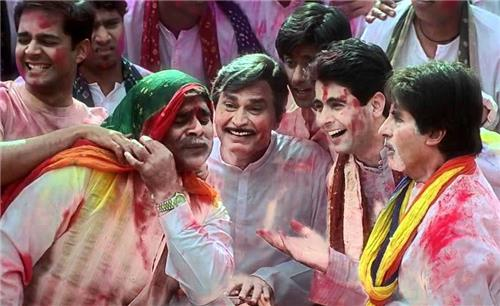 Abitabh Bachchan Celebrating Holi