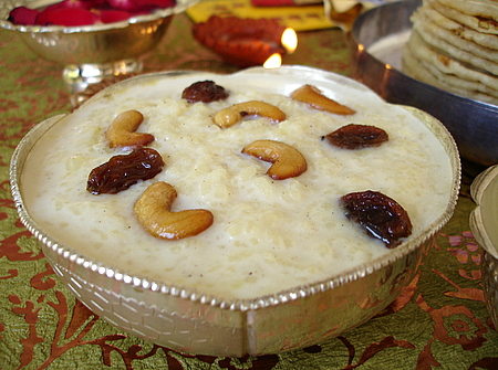 Rice Kheer on Holi