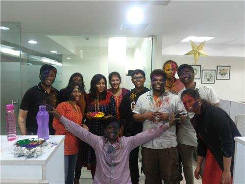 Holi Celebration in Offices