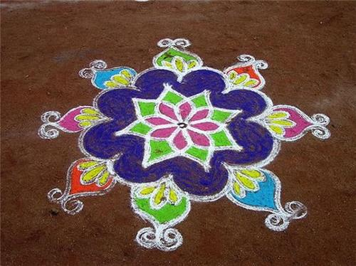 Office Rangoli on Holi