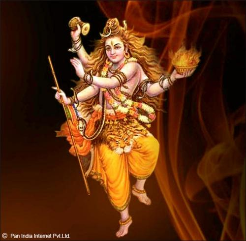 Lord Shiva performing Tandava