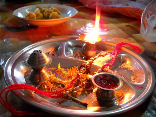 Raksha Bandhan Puja Thali