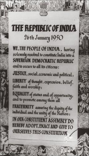 The First Indian Constitution
