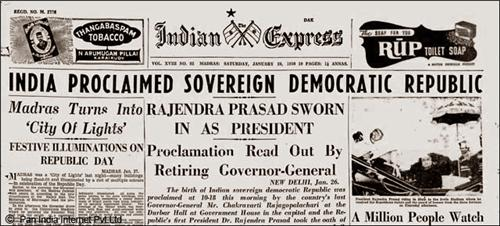 Indian Express on 26 January, 1950