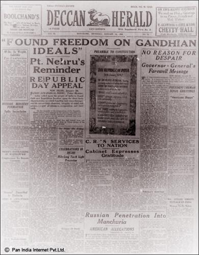 Deccan Herald on 26 nJanuary, 1950