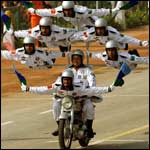 Bike stunt performed during Republic Day Parade