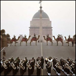 Trumpets Playing during Beating Retreat