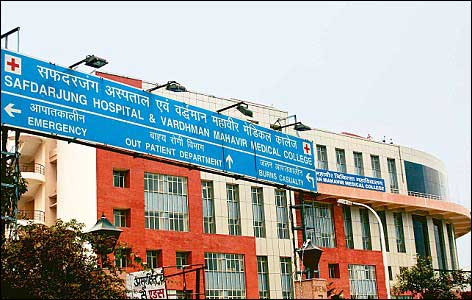 Safdarjung Hospital in Delhi